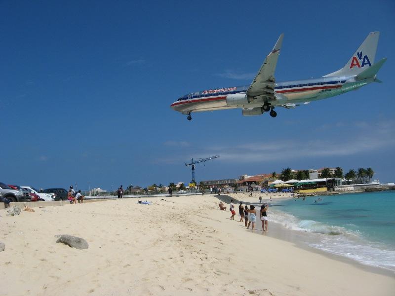 Maho Bay Beach St Maarten Karla